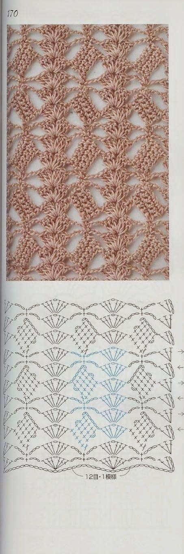 een heel mooi steekje! - pretty crochet stitch (Bees and Appletrees ...