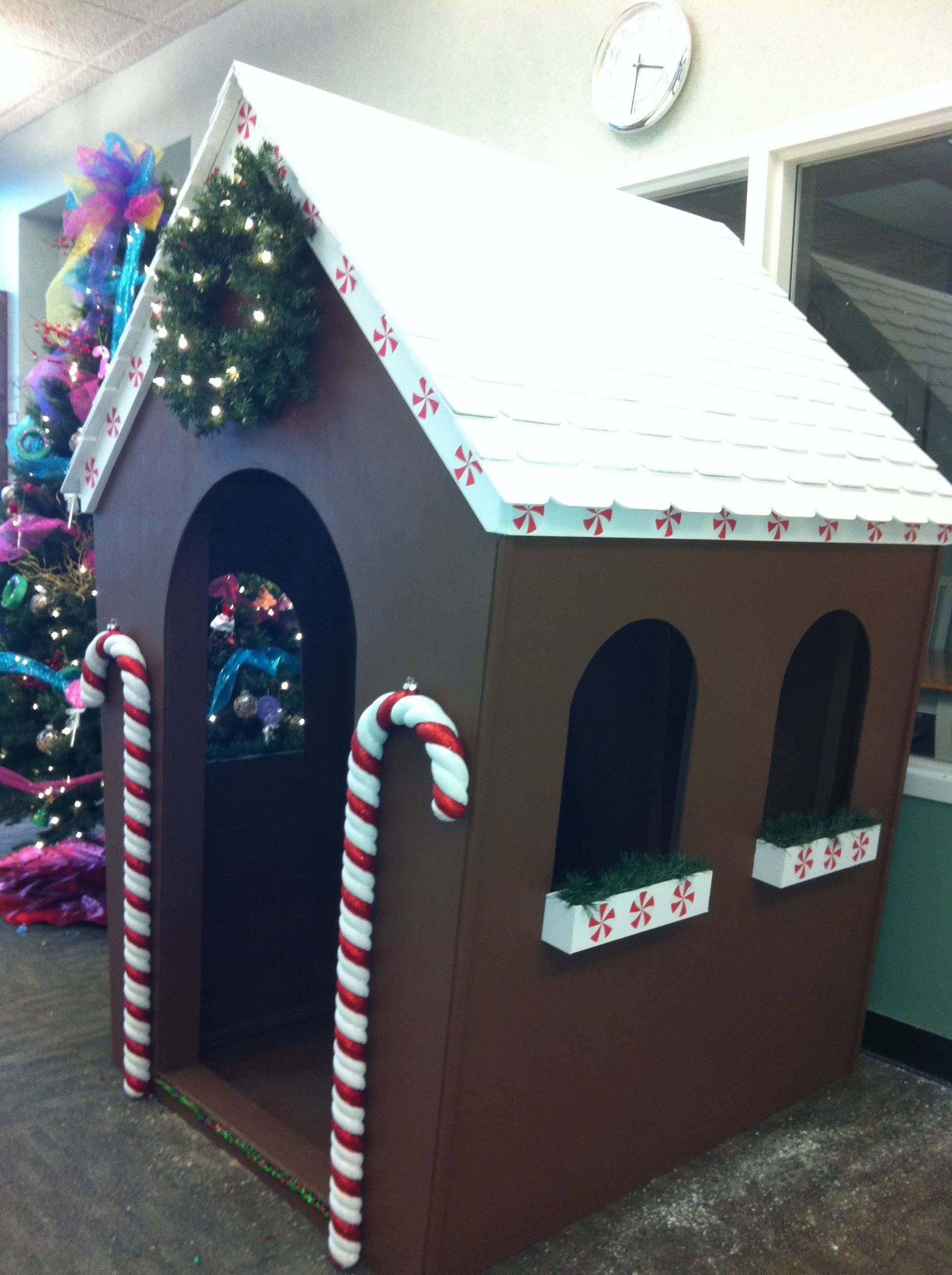Life Size Gingerbread House I Made For Work Gingerbread House