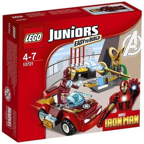 lego 10721 juniors jeu de construction iron man contre loki inclut - Jeux D Iron Man