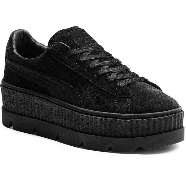 8bced4a42b33 PUMA Cleated Suede Creeper Sneakers ( 160) ❤ liked on Polyvore featuring  shoes