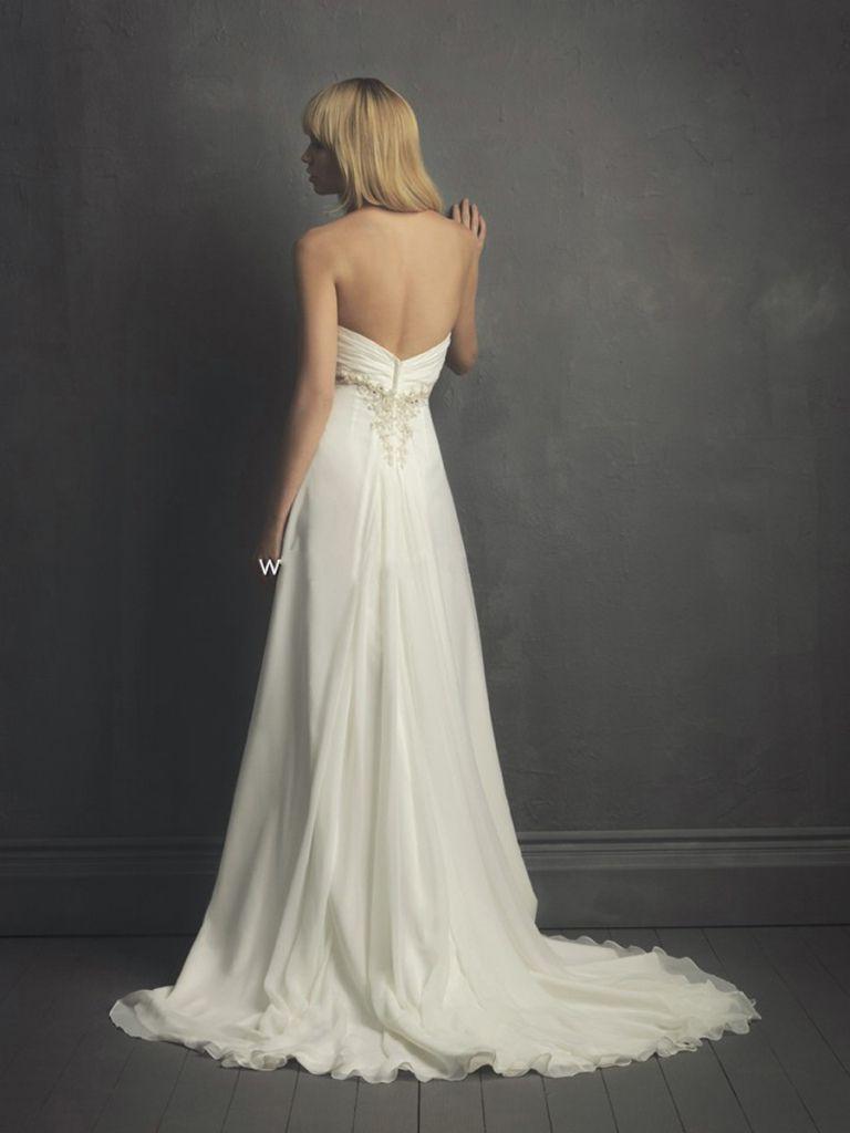 Sweetheart Empire Style Babydoll White Chiffon Bridal Dress