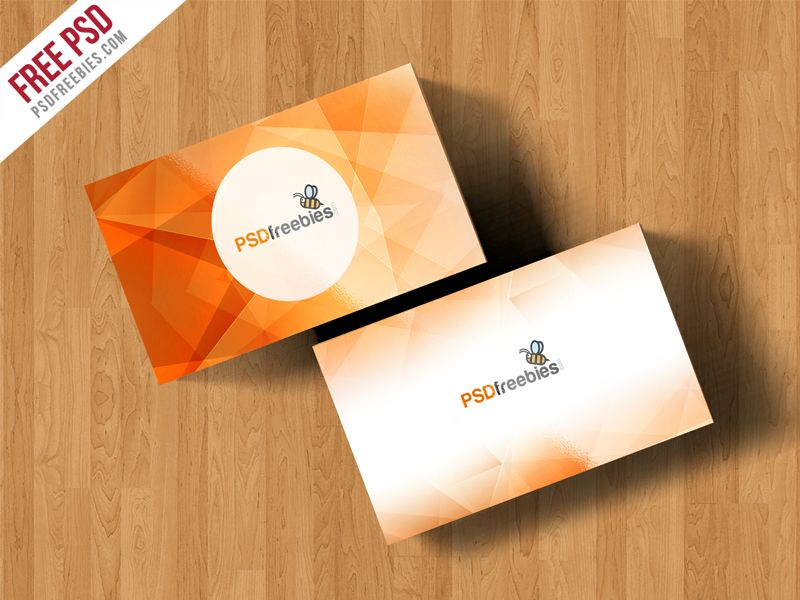 Simple Business Card Mockup Free PSD | Simple business cards, Mockup ...