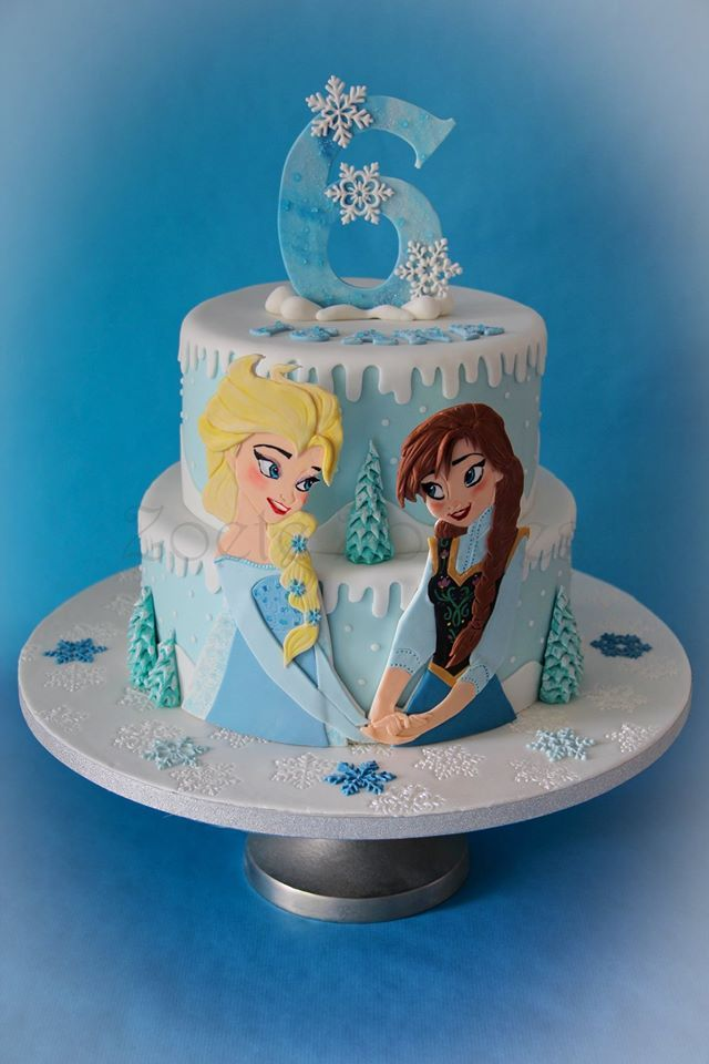 blue Frozen cake | Disney's Frozen Cakes | Elsa birthday ...