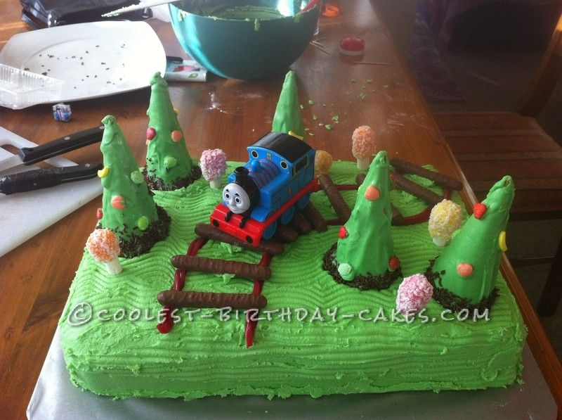 Coolest Train Cake For A 2 Year Old Boy Birthday Cake Decorating
