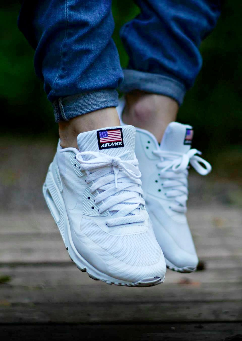 classic fit 39896 a64b0 Nike Air Max 90 Hyperfuse  Independence Day  White