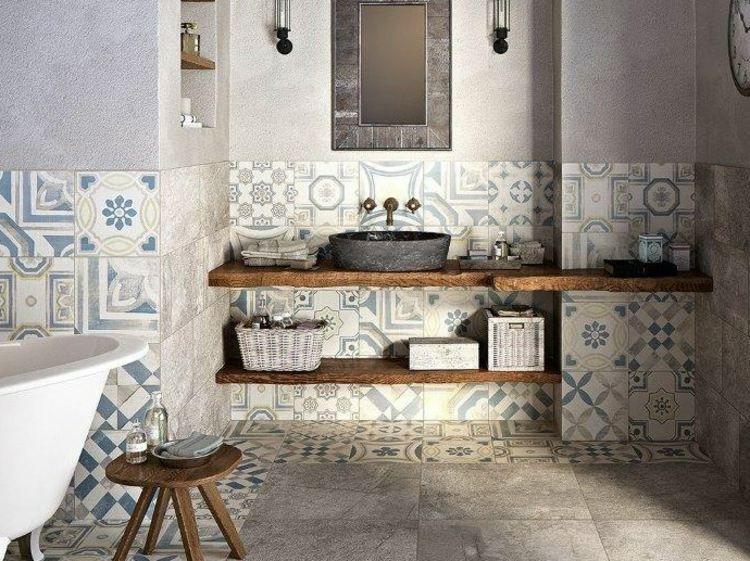 Carrelage mural salle de bain idées et astuces design Pinterest