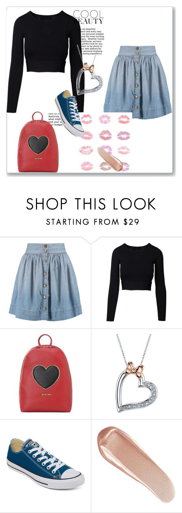"""picture day"" by cj34turtles on Polyvore featuring Current/Elliott, Love Moschino, Disney, Converse, NARS Cosmetics and converseoeswitheverything"