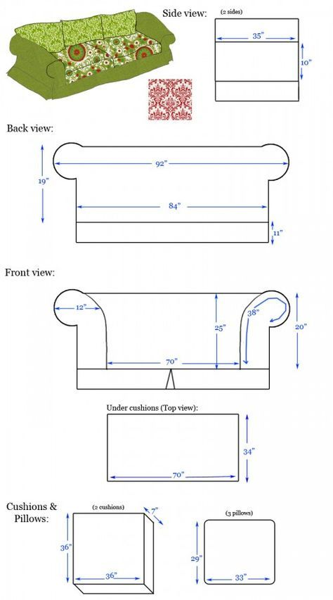 Sofabezug nähen / Sewing Sofa Slip Cover | ideas & diy projects ...