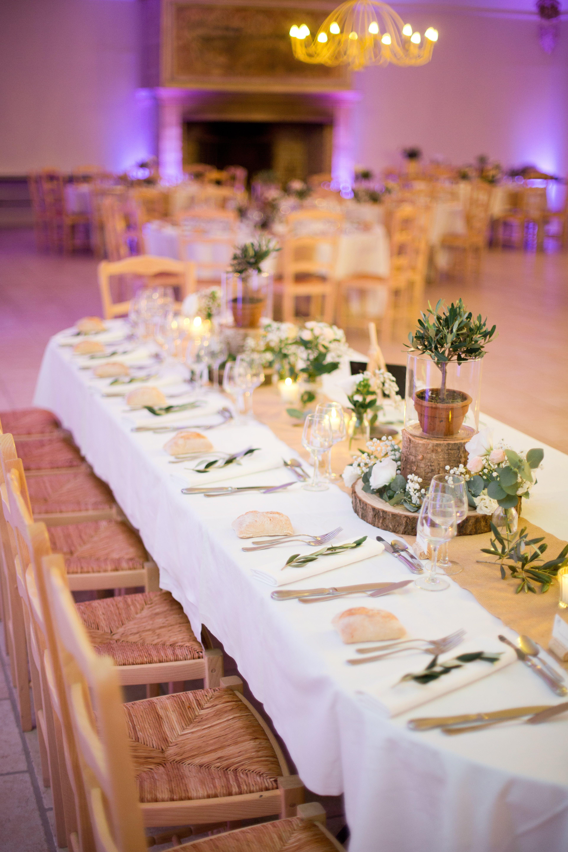 Deco Centre De Table décoration centre de table nature, bois, olivier, jute