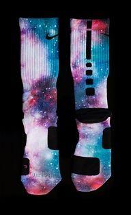 Cotton Candy Galaxy Elites - Custom NIke Elite Socks