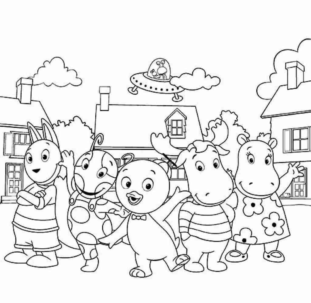 Pin By Funcraft Diy On Coloring Pages Backyardigans Coloring Pages