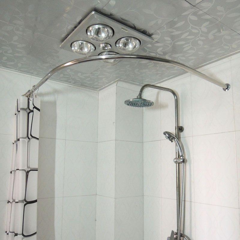 astonishing round shower. round corner shower curtain rod  Hallway Bathroom Pinterest Shower rods Corner and Tiny bathrooms