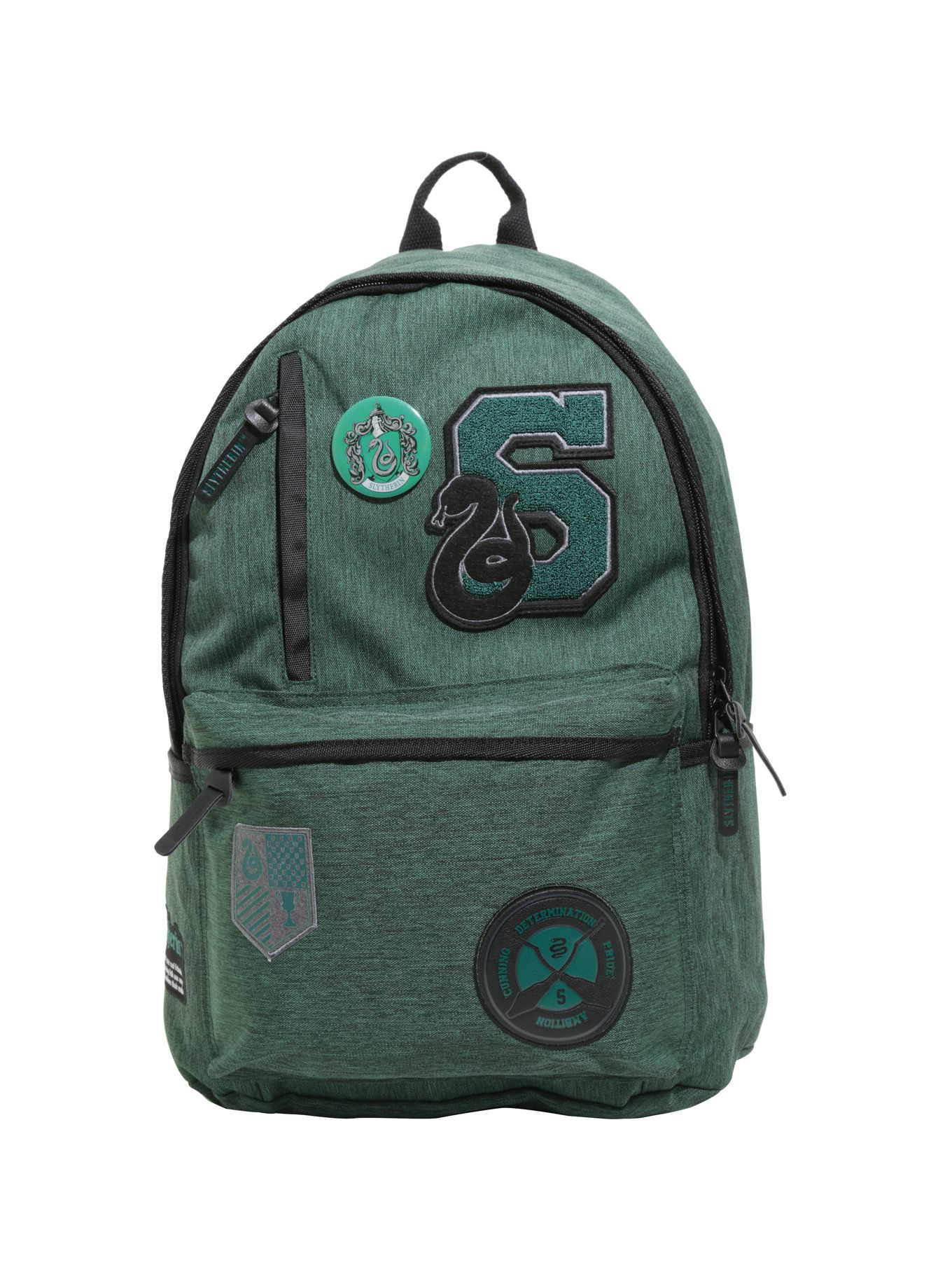 9ff39e7413 Harry Potter Slytherin Varsity Patch Backpack