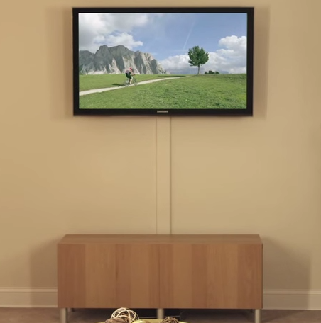 How To Hide Tv Cables On The Wall Diy Home Decorating Tips Hide Tv Cables Tv Wall Wall Mounted Tv