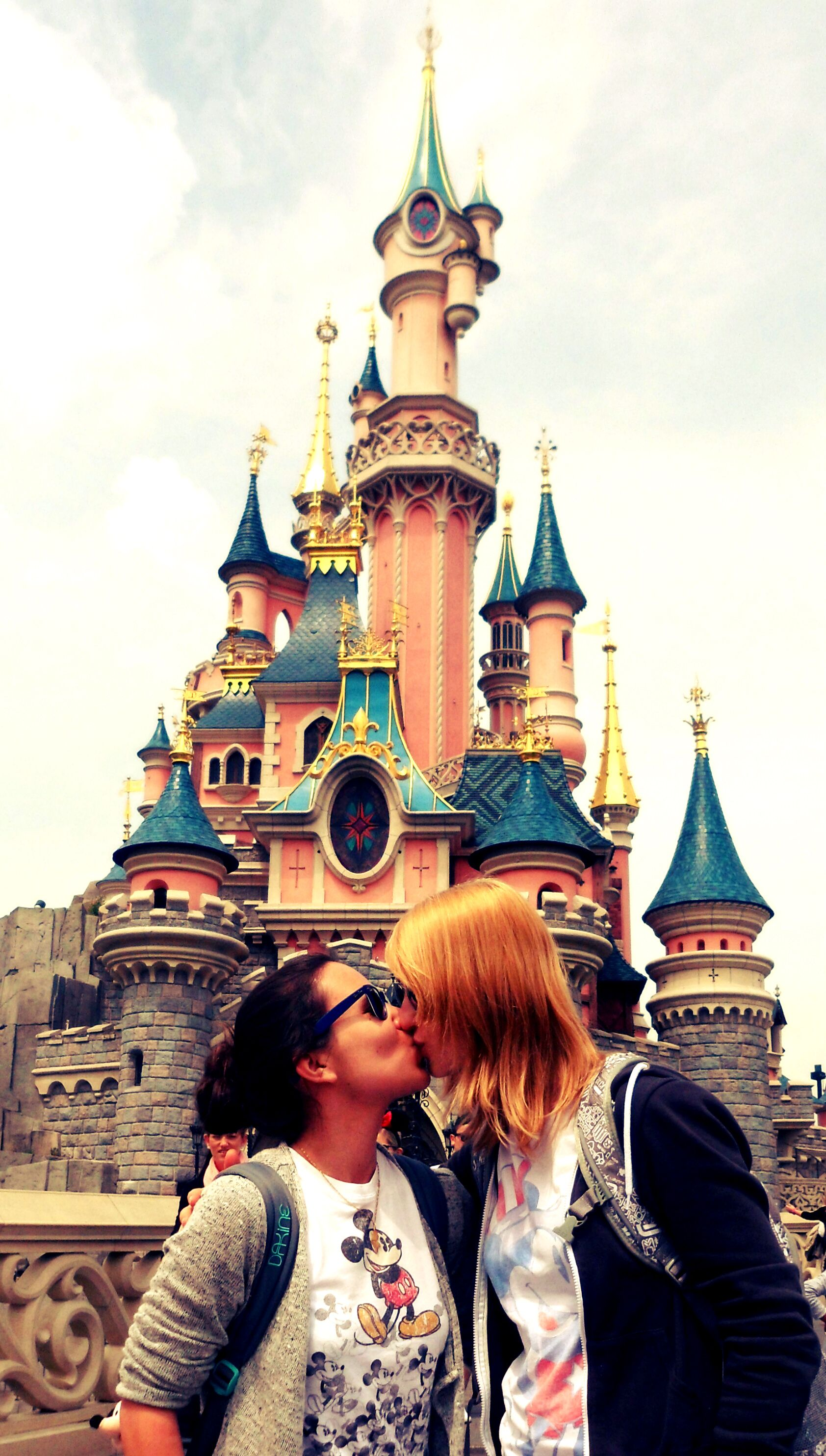 Disneyland photos disneyland paris bride groom table grooms table -  Disneyland Paris Castle Love Equality Gay Lesbian Cutestcouple