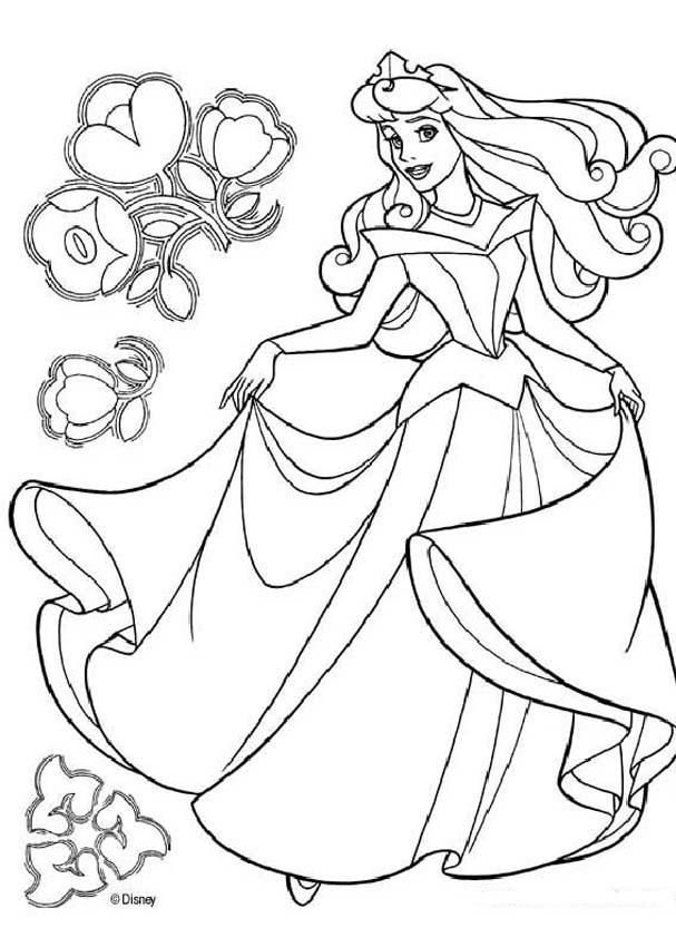 Sleeping Beauty Coloring Pages Princess Aurora Dancing Disney