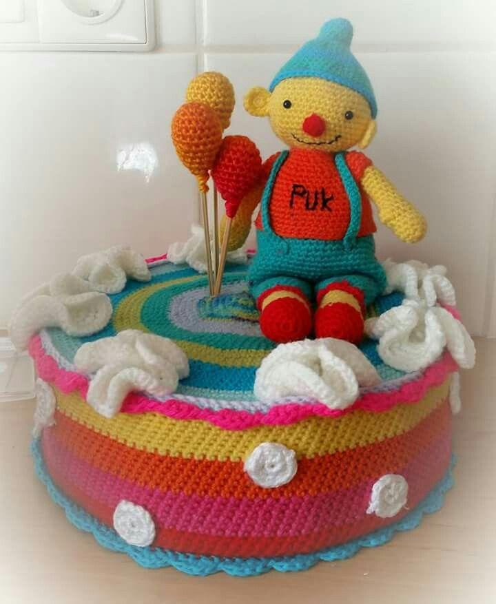 B Day Taart Haken Crochet Cake Pinterest Crochet Cake Crochet