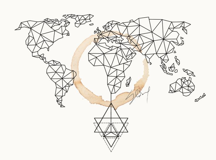 Image result for geometric world map tattoo permanent ink image result for geometric world map tattoo gumiabroncs Gallery