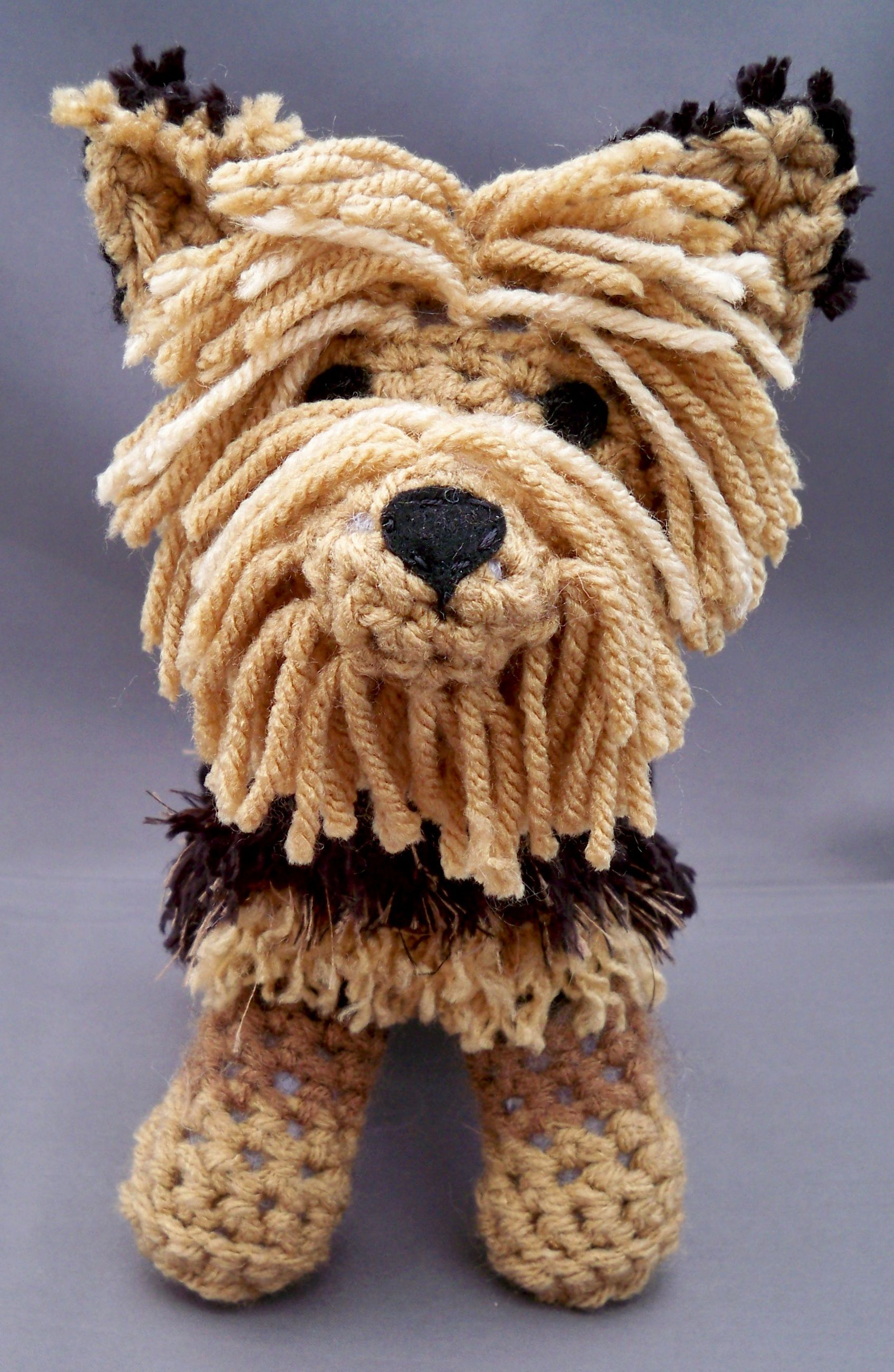 Free Crochet Yorkie Dog Pattern With Video | Perro amigurumi ... | 2601x1694