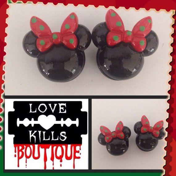 PICK SIZE Custom Plug Bats Purple Rose plugs by Lovekillsboutique