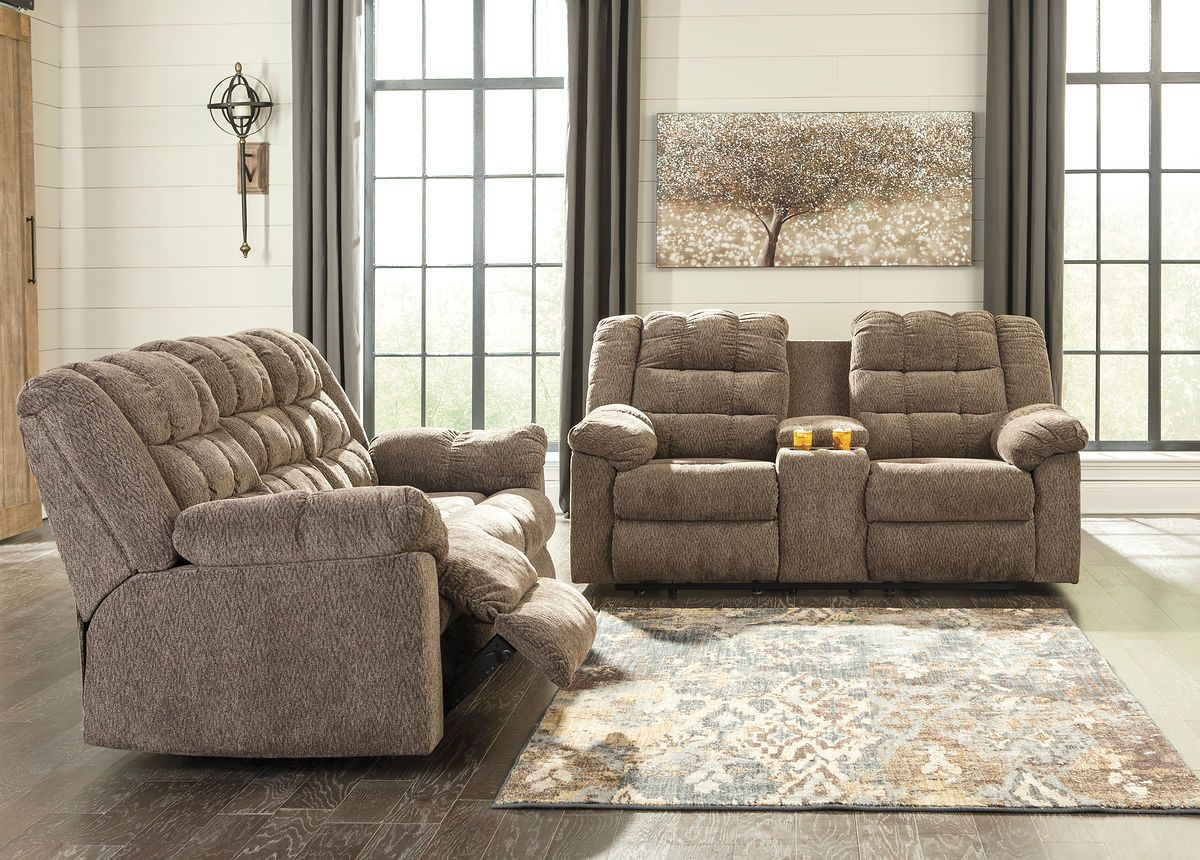 Ashley Workhorse Cocoa Reclining Amp Loveseat With Console On Sale At Wcc Furniture Amp Mattress