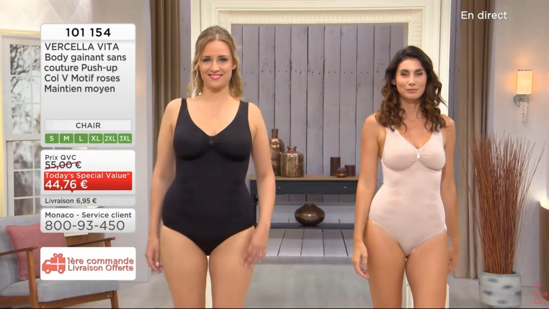 ce20cbaf72770 Sandra Challal Shapewear QVC France 1 09 2016 - YouTube