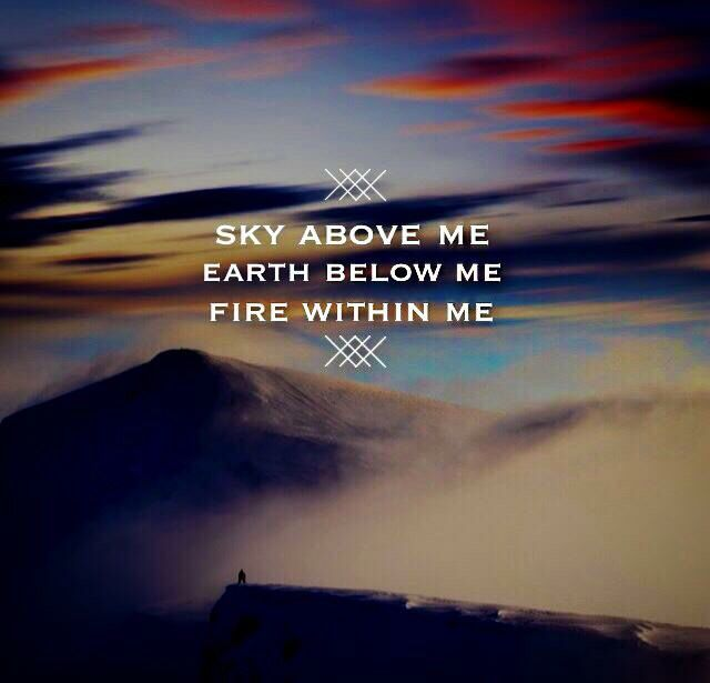 sky earth fire positive quotes all quotes sky