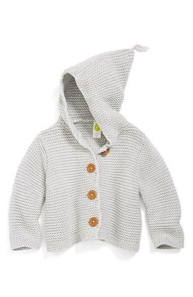 Stem Baby 'Lofty' Organic Cotton Hooded Cardigan (Baby Girls ...