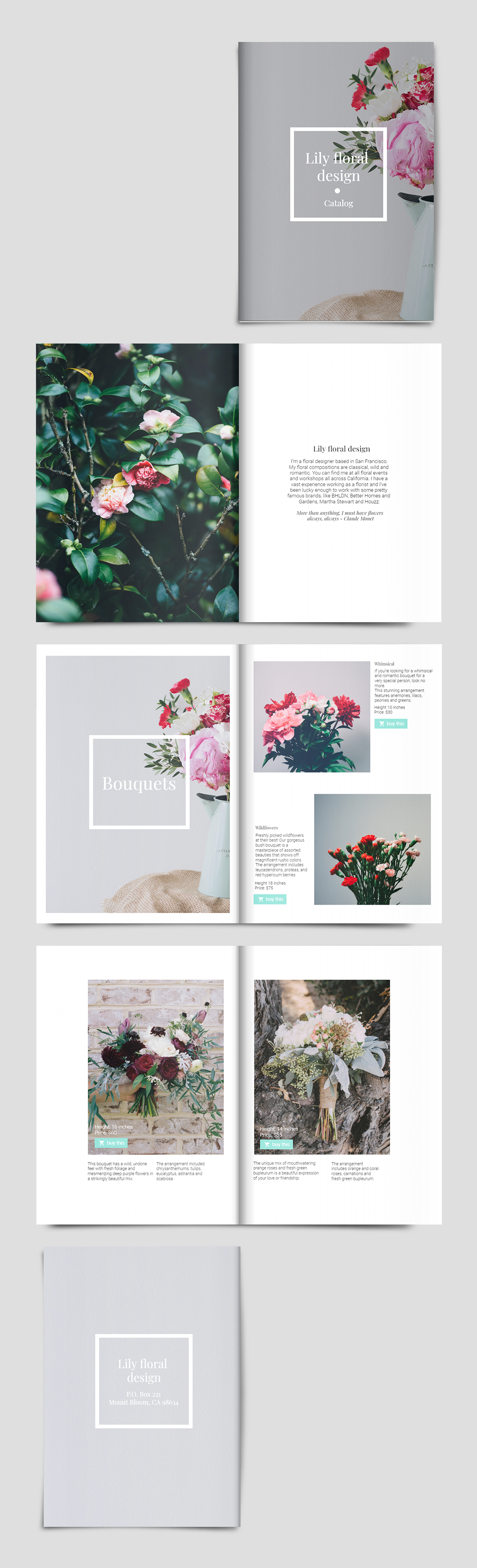 Online Catalog Template Flower Catalogs Catalogue Layout Catalog Design