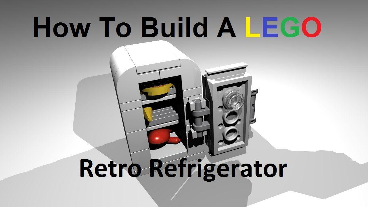How To Build A Lego Retro Refrigerator Custom MOC Instructions