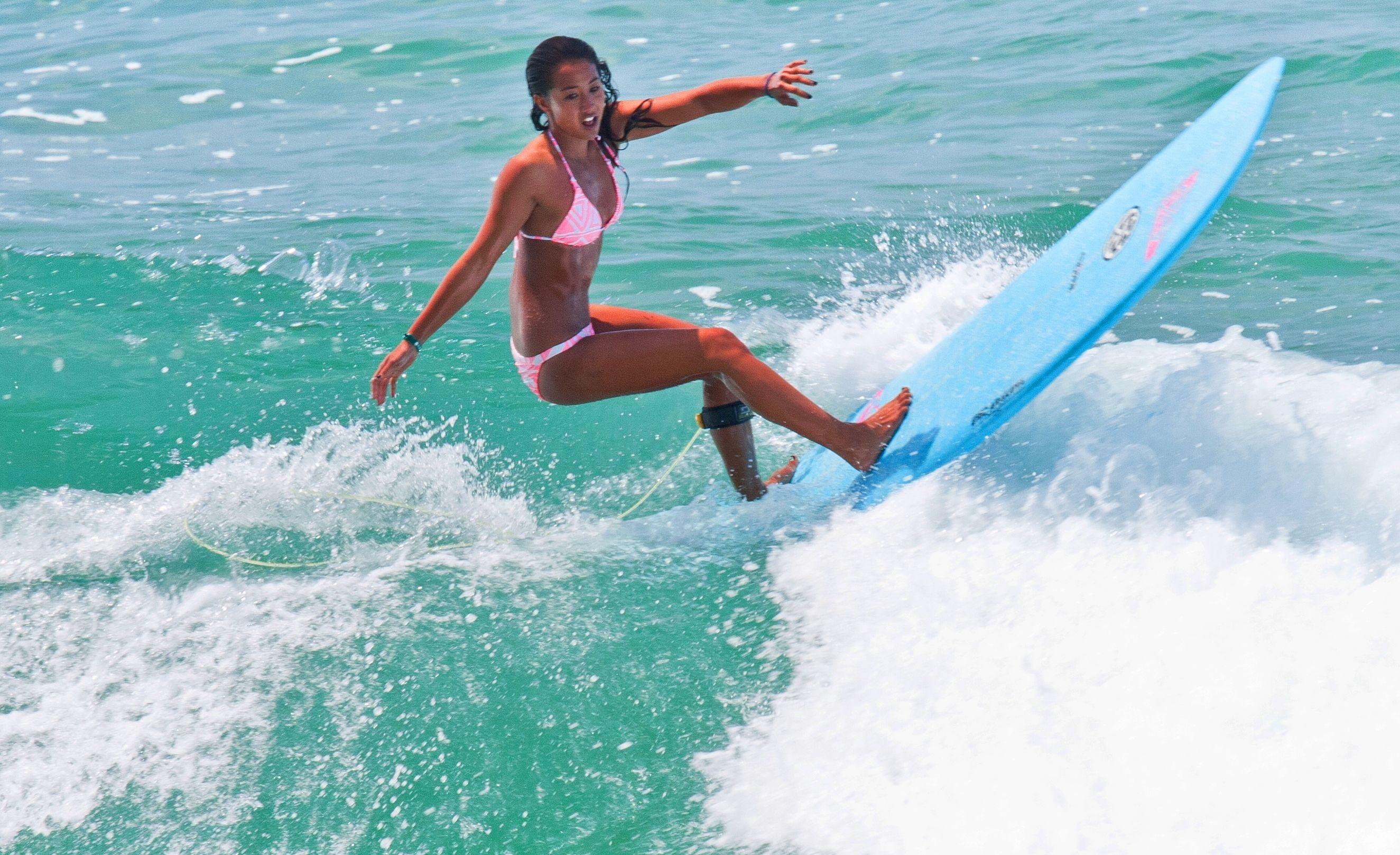 Surfer girl Kelia Moniz