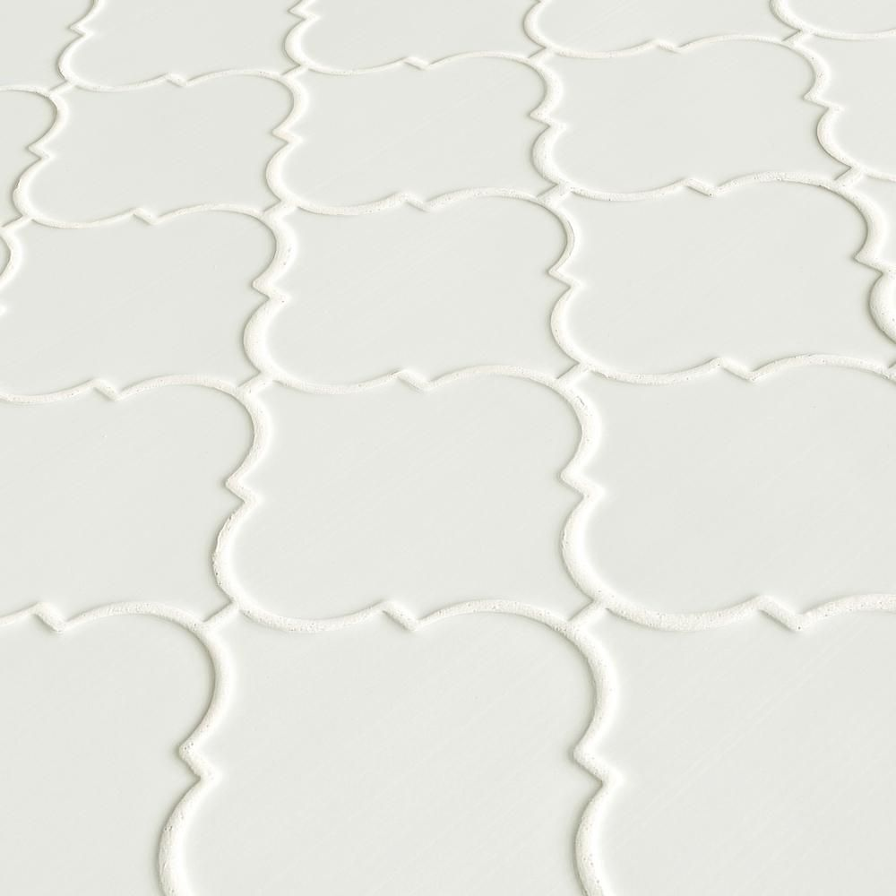 Msi Whisper White Arabesque 10 1 2 In X 15 1 2 In X 8 Mm Glazed Ceramic Mesh Mounted Mosaic Wall Tile 11 7 Sq Ft Case Pt Ww Arabesq Mosaic Wall Tiles Ceramic Mosaic Tile Mosaic Tiles