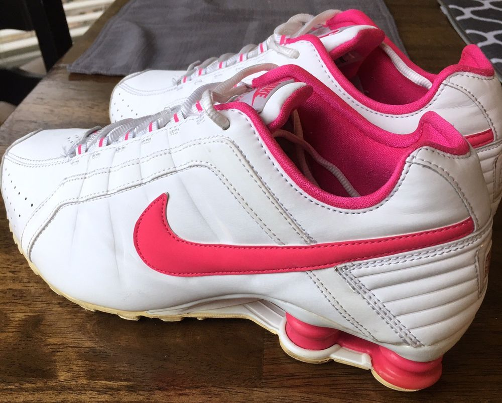 low priced de4f9 1ac13 NIKE SHOX JUNIOR RUNNING SHOES LEATHER PINK  WHITE Women s Size 9 (454339)  WOW!   eBay