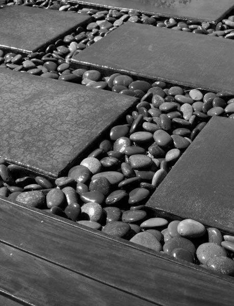 Concrete And River Rocks GREY-AQUA Pinterest Tipos de jardines