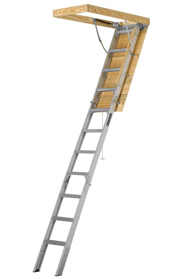Louisville Ladder Aee2210 Aluminum Energy Efficient Attic Ladder