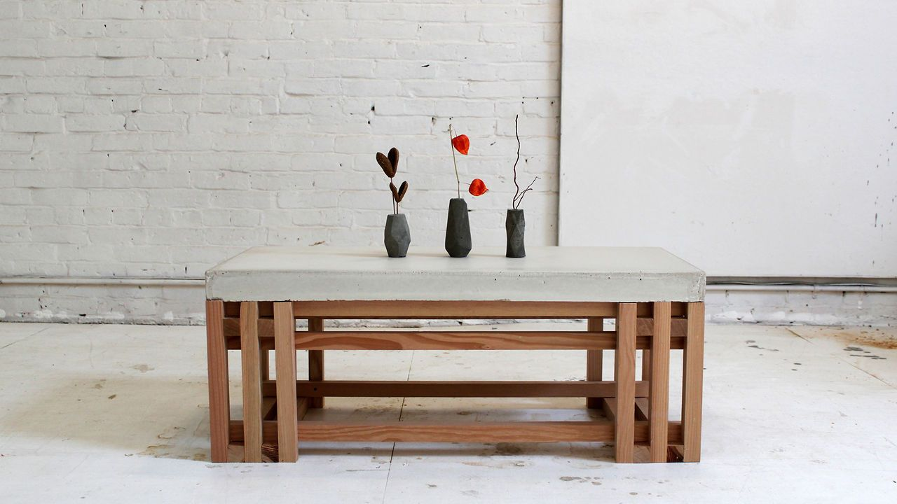 5 Home Depot Hacks Concrete Coffee Table Coffee Table Wood Diy Coffee Table [ 720 x 1280 Pixel ]