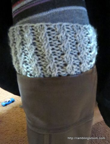 Knit Boot Cuff Done On Circular Needles Very Easy Rhonda Alp