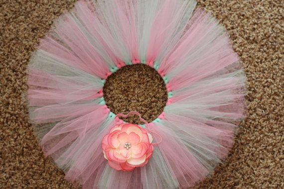 Custom tutu and matching headband for girls- infants, toddlers, girls, juniors, ladies on Etsy, $15.00