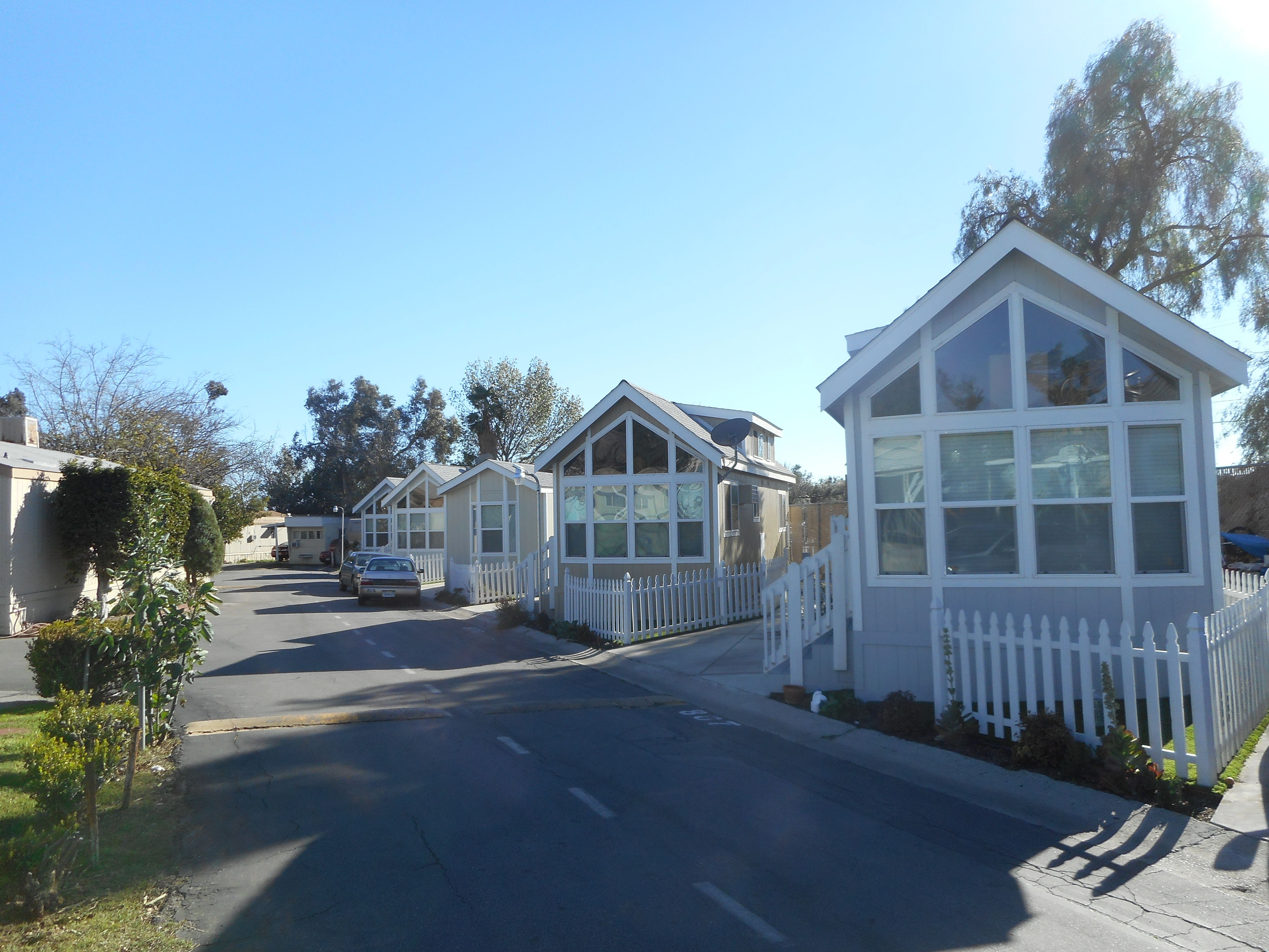 After A Trailer Court With New Park Models As Affordable Rentals In Los Angeles Ca Tiny House Affordable Rentals Tiny House Village