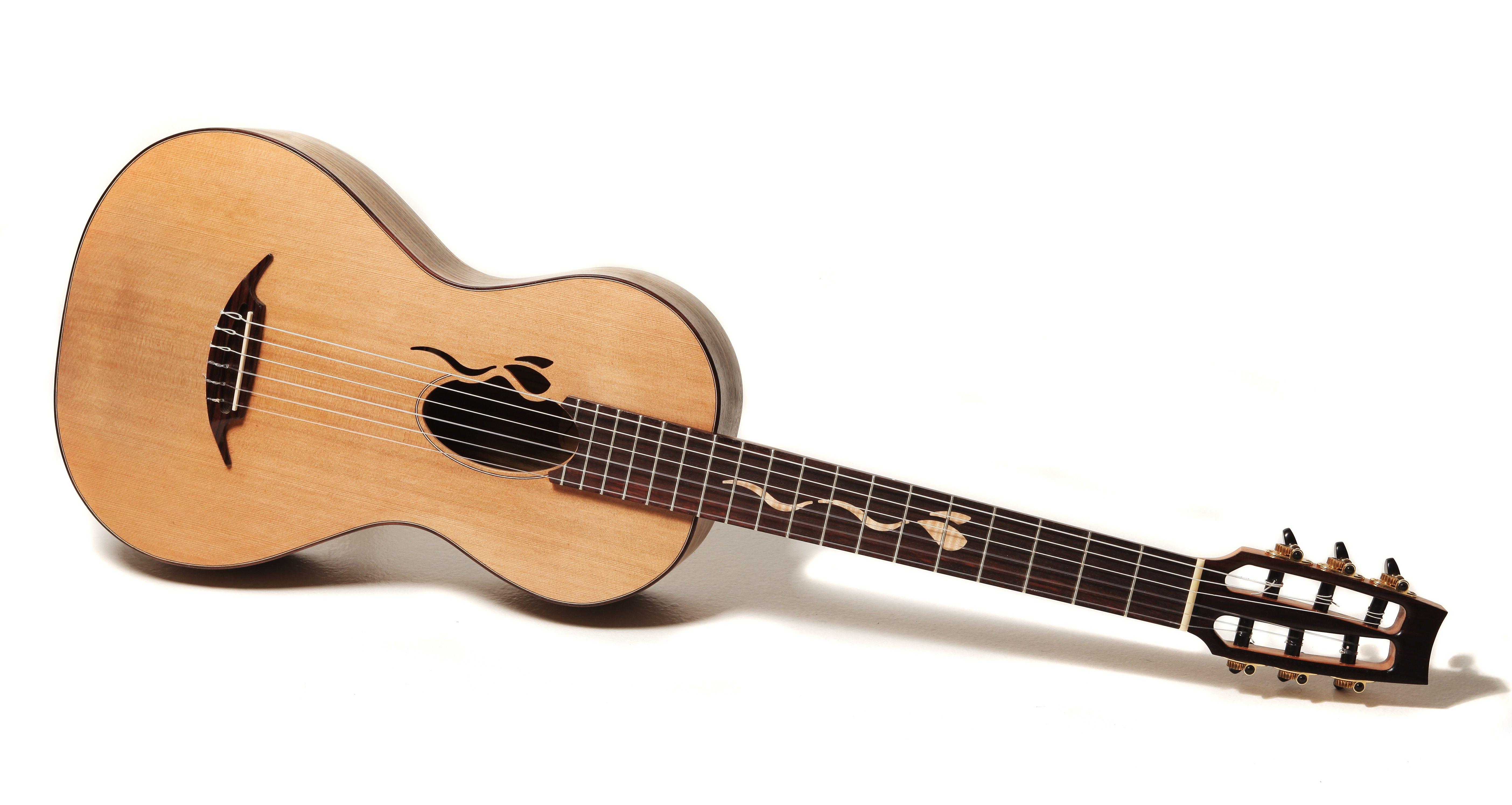 la petite small body 19th century style nylon string guitar murray kuun guitar design. Black Bedroom Furniture Sets. Home Design Ideas