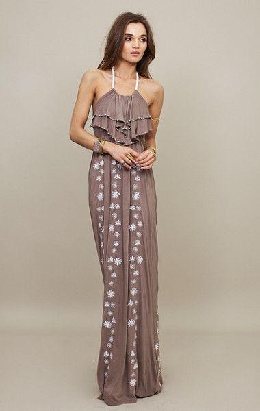 Taupe Beach Dress