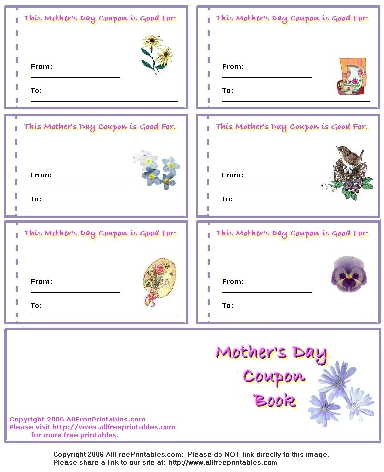 Motheru0027s day coupons Kids Pinterest Coupons and Craft - coupon template free printable