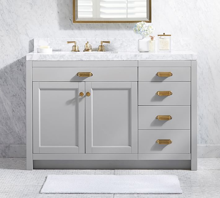 Photo of Davis Asymmetric Single Sink Vanity – 48.25&quot