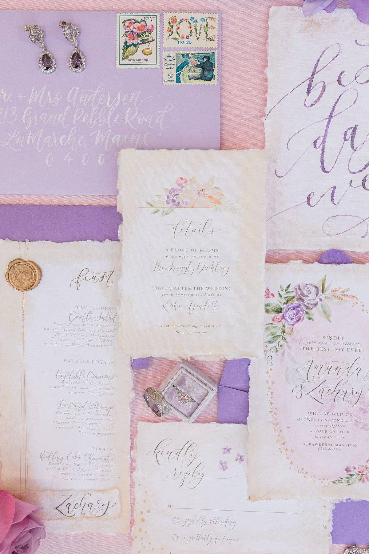 Rapunzel Themed Wedding A Perfectly Purple Fairytale Fit