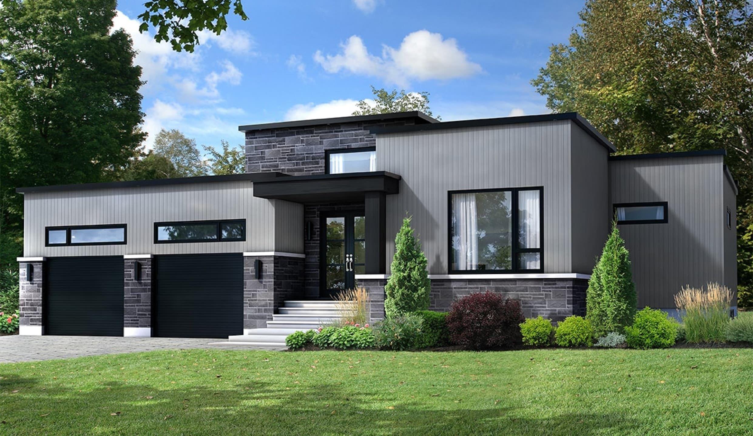 le parker toit plat est un plain pied l architecture. Black Bedroom Furniture Sets. Home Design Ideas