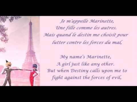 Miraculous Ladybug French Lyrics Fre Eng Fille