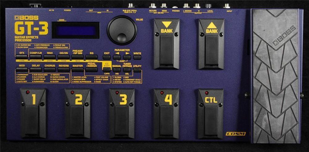boss gt 3 gt3 electric guitar multi effects processor pedal w rh pinterest com boss gt 3 manual download boss gt1 manual uk