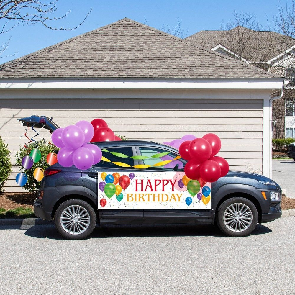38ct Balloon Blast Birthday Parade Car Decorations Kit in ...