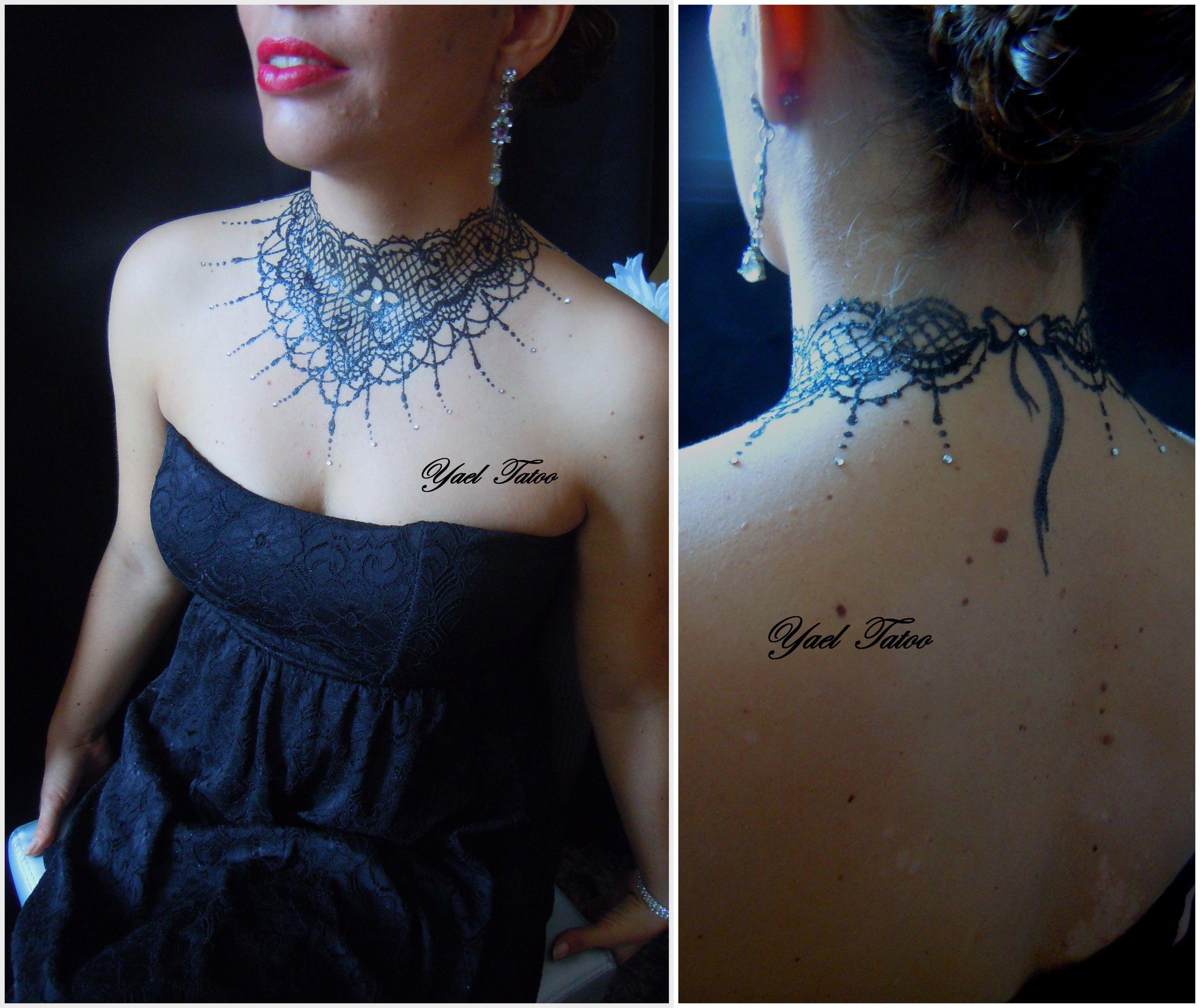 tattoo collier femme