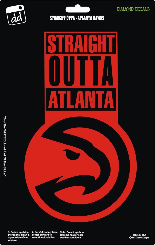 Car decals tribal graphic design zion series - Straight Outta Atlanta Hawks Nba Basketball Logo Decal Vinyl Sticker Car Truck Window Laptop By Diamonddecalz